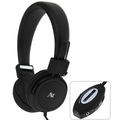 AT-SD36 High Fidelity MP3 Player Headset Headphones with FM Function / TF Card Slot / USB Port