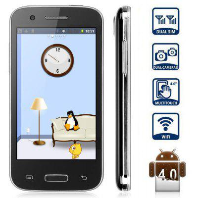 S4 mini 4.0 inch Android 4.0 Smart Phone MTK6517 Dual Core 1GHz WVGA Screen 256MB WiFi Bluetooth Marquee - LED