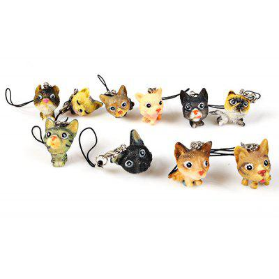 Super Funny Small Cat Model Toy Pendent Cute Cat Model Toy Pendent