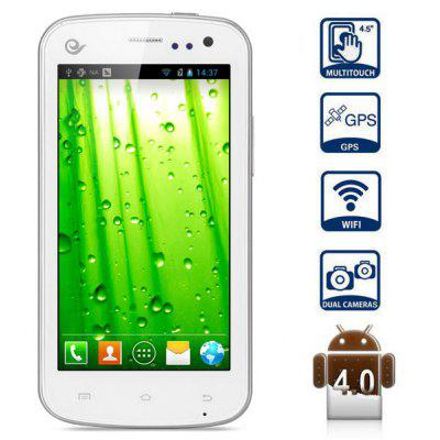 Jeepont ES30 Android 4.0 Смартфон 4.5 дюйма WVGA IPS экран MSM8625 Dual Core 1GHz 4GB GPS (белый)