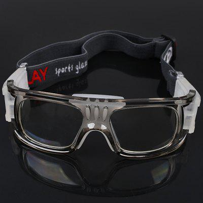 Durable Anti-shock Basketball Glasses Sports Safety Goggles Soccer Football Eyewear - Gray