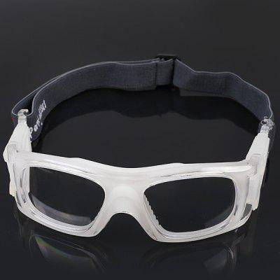 Professional Shockproof Basketball Sports Safety Eyewear Goggles Soccer Football Protection Glasses - White