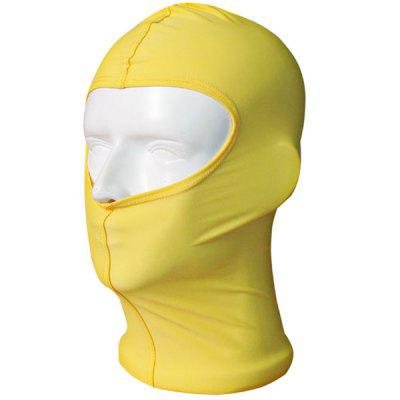 Pure Colour Anti UV Comprehensive Security Protection Swimming Cap / Hat / Facekini Protective Mask Headgear - Blue