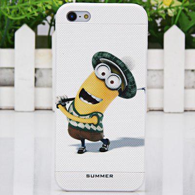 Relievo Cute Despicable Me Style Detachable Protective PVC Hard Shell Case for iPhone 4 / 4S