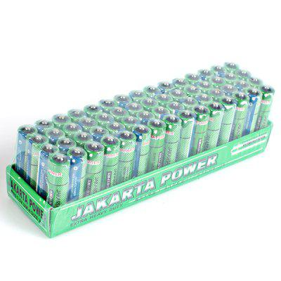 Low Carbon and Environment Friendly Jakarta Size AAA 1.5V Battery - 60Pcs