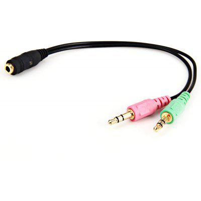 High Speed 2 Male to 1 Female 3.5mm Audio Cable