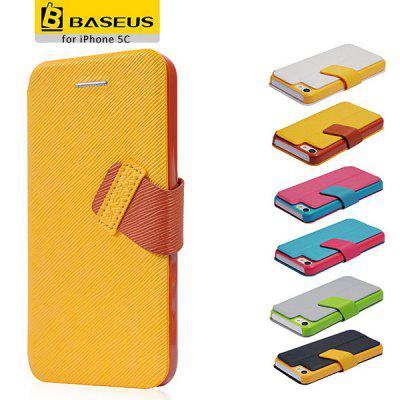 Baseus Fashion Magical Wallet Style PC + PU Leather Case for iPhone 5C