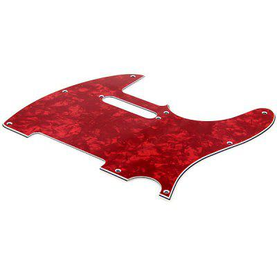 MG-008 Professional High Quality 3-PLY Pearl Pickguard Scratch Plate for TL Guitar (Red)