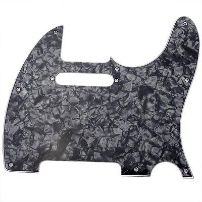 MG-006 Professional High Quality 3-PLY Pearl Pickguard Scratch Plate for TL Guitar (Black)
