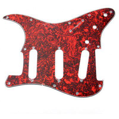 MA-026 Professional PVC 3-PLY Red Tortoise Shell Pickguard Scratch Plate for Fanta Style Celluloid Electric Guitar