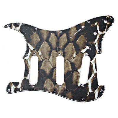 MA-020 Professional Green Snake Stripes PVC 3-PLY Pickguard Scratch Plate for Electric Guitar