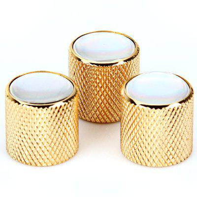 KB-42 3PCS Practical Golden Knobs with Environment Friendly White Resin Head