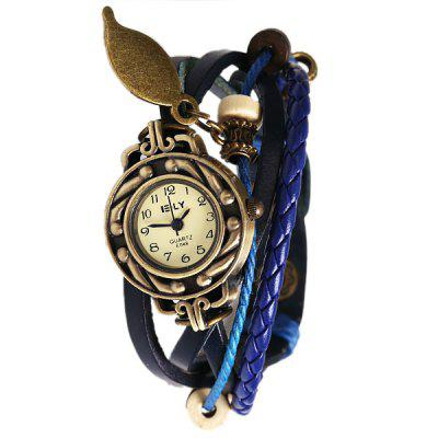 IELY Quartz Watch with 12 Numbers Indicate Leather Watch Band for Women - BlueWomens Watches<br>IELY Quartz Watch with 12 Numbers Indicate Leather Watch Band for Women - Blue<br><br>Band color: Blue<br>Band material: Leather<br>Case color: Gold<br>Case material: Metal<br>Movement type: Quartz watch<br>Style: Fashion&amp;Casual<br>Watches categories: Female table