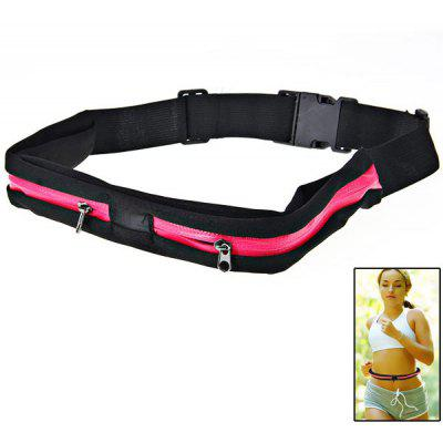 Double Bag Outdoor Sport Waterproof and Anti - theft Waist Bag
