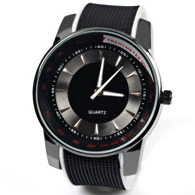Cheap Watches with Round Dial and Rubber Watchband for Unisex