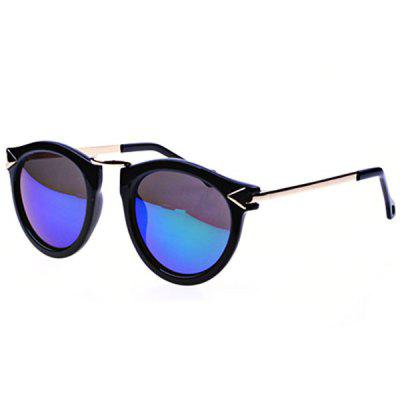 Cool Unisex Outdoor Leisure Sunglasses with Black Frame Green and Silver Lens