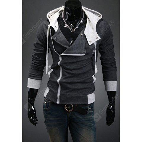 Estilo elegante design simples Brasão For Men manga comprida com capuz Slimming
