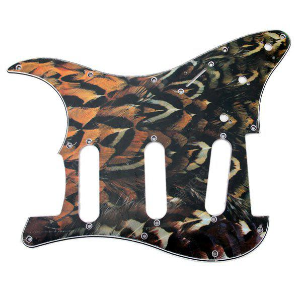 MA-023 Professional Peacock Feather Pattern PVC 3-PLY Pickguard Scratch Plate for Electric Guitar
