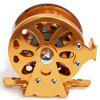 cheap Wonderful Copper Mandrel Spool Spinning Reel Fishing Accessories (Golden)