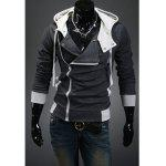 Fashionable Style Simple Design Long Sleeves Slimming Hooded Coat For Men - DEEP GRAY