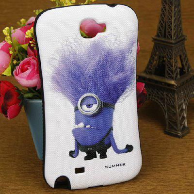 Cute The Minion Style PC and Silicone Case for Samsung Galaxy Note 2 N7100