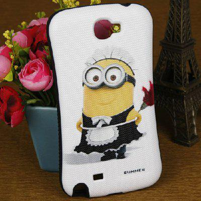 Funda de silicona y PC Minion and Flower Pattern para Samsung Galaxy Note 2 N7100