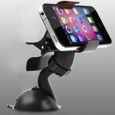 Car Windscreen Mount Holder Cradle Stand Bracket for Smart Phones with Sucking Cup (Black)