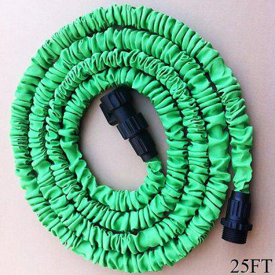 25FT Soft Garden Watering Tool Multifunctional Flexible Expandable Pocket  Hose   Green
