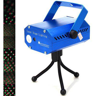High Brightness LY-034-09 AC110-240V/50-60Hz Mini Moving Party Red and Green Laser Stage Light with Tripod