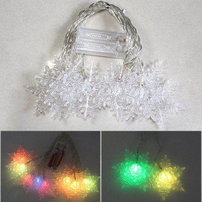 Fantastic 1.5M 10 x LED 3W Color Changing Battery Powered Snow Flower String Light for Christmas Decoration