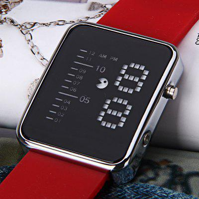 Waterproof Rubber Band Blue LED Screen Watches with Square DialWatches &amp; Jewelry<br>Waterproof Rubber Band Blue LED Screen Watches with Square Dial<br><br>Available Color: Red<br>Band material: Rubber<br>Clasp type: Pin buckle<br>Display type: Numbers<br>Movement type: Digital watch<br>Package Contents: 1 x Watch<br>Package size (L x W x H): 24.5 x 4.7 x 2 cm<br>Package weight: 0.091 kg<br>People: Unisex table<br>Product size (L x W x H): 23.5 x 3.7 x 1 cm<br>Product weight: 0.061 kg<br>Shape of the dial: Square<br>Special features: Light<br>The dial diameter: 3.7 cm<br>The dial thickness: 1 cm<br>Watch style: LED