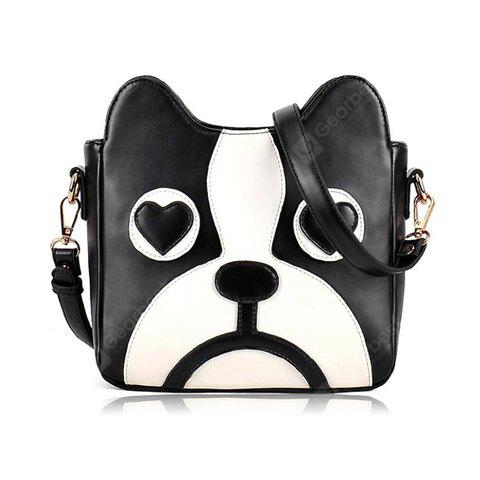 Sweet Puppy Pattern and PU Leather Design Women's Crossbody Bag