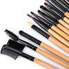 High-End Log Brush szett Soft Cosmetic Arc-Make-Up Brush púder ecset Lady (24Pcs)