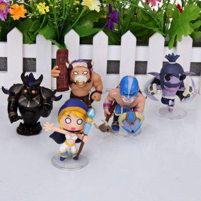 5Pcs Online Game the Defence of the Ancients Figure Model Toy with Transparent Standing Bases