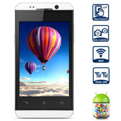 HTM H10 4.0 inch Android 4.2 Smart Phone MTK6572 Dual Core 1.0GHz HVGA Screen Dual Cameras