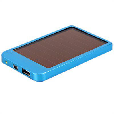 2600mAh Solar Power Bank Panel Backup Battery Charger for GPS/MP3/iPhone/iPad - Royalblue