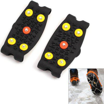 2PCS High Quality 5 Nail Outdoor Crampons Outdoor Shoes Cover Snow Ice Claw Overshoes