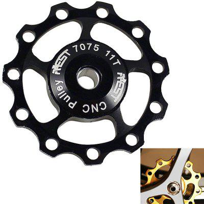 1PCS AEST A-06 Aluminium Jockey Wheel Rear Derailleur Pulley for Shimano and SRAM - Black