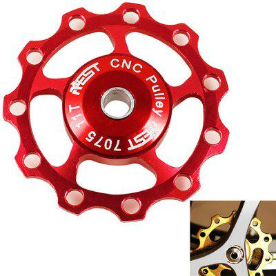 1PCS AEST A-06 Aluminium Jockey Wheel Rear Derailleur Pulley for Shimano and SRAM - Red
