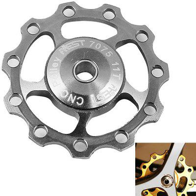 1PCS AEST A-06 Aluminium Jockey Wheel Rear Derailleur Pulley for Shimano and SRAM - Silver