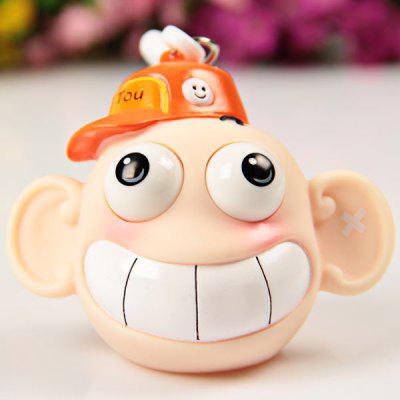 Funny School Leatherhead Wearing Hat Doll Toy Goggle - eyed Bag Pendent Interesting Decompression Tool