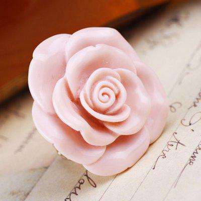 Sweet Pink Flower Decorated Ring For Women