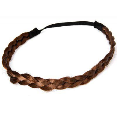 Popular Bohemia Style Women Springy Wig Pigtail Hair Band (Deep Coffee)