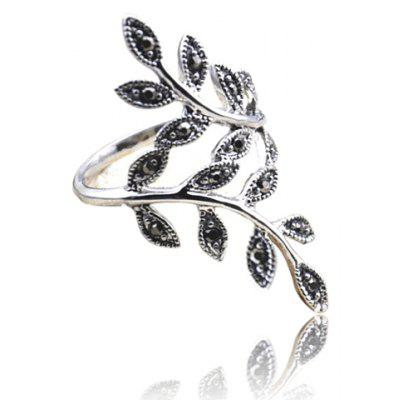 Curved Branch Shape Alloy Ring