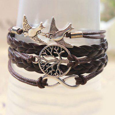 Retro Handmade Weaved Bird Decorated Bracelet