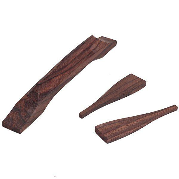 3PCS HJY-43 Practical Best Rosewood Bridge for Jazz Guitar