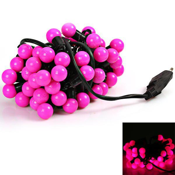 Unsurpassed Performance 5M 50 x LED 220V Bulb Light String Light for Christmas Decoration - Pink Light