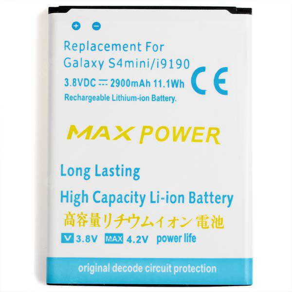 High Capacity Replacement 2900mAh Battery for Samsung Galaxy S4 Mini /  i9190 ( White )