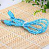 cheap Portable Style 1M Fabric  8 Pin to USB Charger Sync Data Cable for iPhone 5 / 5S / 5C