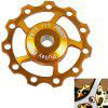1PCS AEST A-06 Aluminium Jockey Wheel Rear Derailleur Pulley for Shimano and SRAM - Golden - GOLDEN